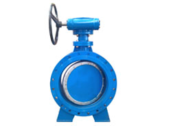 Double eccentric manual flanged butterfly valve