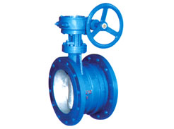 Expansion flange butterfly valve