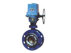 Electric double eccentric double-sided hard sealing butterfly valve