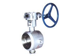Welded metal hard sealing butterfly valve